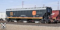 RC N Scale Gunderson 5188 Covered HopperKansas City Southern Gray with Red Logo #67546