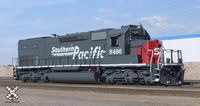 "Rivet Counter HO Scale EMD SD40T-2 w/Sound, Southern Pacific/Speed Lettering/""Lobotomized"" #8496"