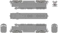 Rivet Counter HO Scale EMD SD45, Undecorated (R1), Southern Pacific/DCC & Sound Equipped