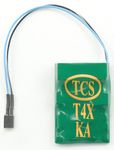 T4X-KAC 4-Function DCC Decoder w/TCS Keep Alive Wires - Control Only -- No Harness; With 2-Pin Connector for KA Unit .66 x 1 x .22