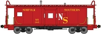 N Scale, International Car Bay Window Caboose Phase 2 - Ready to Run -- Original Norfolk Southern 383 (red, yellow, white)