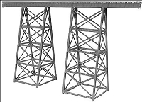 Micro Engineering N Tall Steel Viaducts standard bridge, Scale 200'