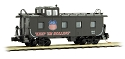 N 36' Riveted Steel Caboose, Offset Cupola - Union Pacific WWII Series #1945