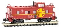 Micro-Trains N Scale 36' Riveted-Steel Cupola Caboose - Ready to Run -- Santa Fe 999229 (red, yellow, Large Logo, Safety Logo)