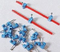 Blue Point(TM) Turnout Controller Accessories -- Hold Down & Clamps (blue), pkg(20)