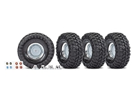 Traxxas 8166X Tires and wheels, assembled, glued - 1.9