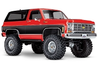 Traxxas, TRX-4 Scale and Trail Crawler with Blazer Body: 1/10 Scale 4X4 Trail Truck - Red Body