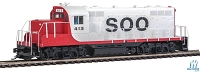 WalthersMainline EMD GP9 Phase II with Chopped Nose - ESU(R) Sound and DCC -- Soo Line #413 (white, red, black)