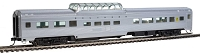HO 85' Budd Dome Coach - Ready to Run -- Southern Railway (silver)