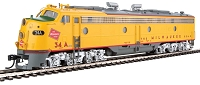 WalthersProto HO EMD E9A-B Set - Standard DC -- Milwaukee Road #34A, 34B (yellow, gray, red)