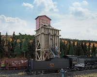 Walthers HO Small Wood Coaling Station -- Kit