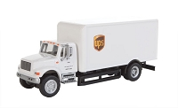 Walthers SceneMaster HO International(R) 4900 Single-Axle Box Van - Assembled -- UPS(R) Cartage Services (white)