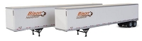 Walthers SceneMaster HO 53' Stoughton Trailer 2-Pack - Assembled -- Bison (white, orange, brown)
