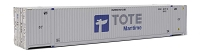 Walthers SceneMaster HO 53' Singamas Corrugated-Side Container - Assembled -- Tote (white, blue, gray)