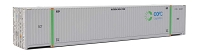 Walthers SceneMaster HO 53' Singamas Corrugated-Side Container - Assembled -- COFC (gray, green)