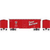 Athearn HO RTR 40' Youngstown Door Box, GN/Red #18592