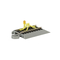 Bachmann HO Nickel Silver Rail & Gray Roadbed - E-Z Track(R) -- Track Bumper with Flashing LED