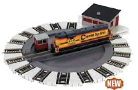 Bachmann HO Scale DCC-Equipped Turntable - E-Z Track