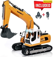 DOUBLE E 17 Channel Full Functional RC Excavator Remote Control Construction Tractor