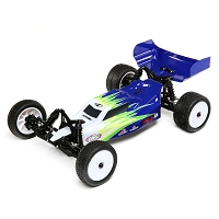 Losi Mini-B, Brushed, RTR: 1/16 2WD Buggy, Blue/White