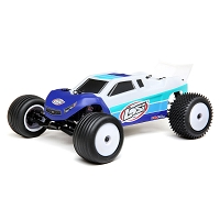 Losi 1/18 Mini-T 2.0 2WD Stadium Truck Brushless RTR - Blue