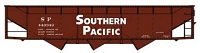 Accurail AAR 70-Ton Offset-Side 3-Bay Hopper - Kit -- Southern Pacific 440349 (Boxcar Red, Large Lettering)