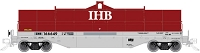 Atlas HO 42' Coil Steel Car with Fishbelly Side Sill - Ready to Run - Master(R) -- Indiana Harbor Belt 166601 (Ex-NS, red, gray, white)