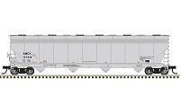 Atlas HO ACF 5800 4-Bay Plastics Covered Hopper - Ready to Run - Master(TM) -- BP Amoco AMCX #107912 (gray, black)