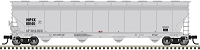 Atlas HO ACF 5800 4-Bay Plastics Covered Hopper - Ready to Run - Master(TM) -- Himont USA HPIX 88128 (gray, black)