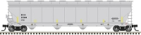 Atlas HO ACF 5800 4-Bay Plastics Covered Hopper - Ready to Run - Master(TM) -- Shintech ROIX 57504 (gray, black, yellow)