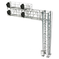 Atlas HO 2-Track Modern Cantilever Signal Bridge - All Scales Signal System -- 4 Signal Heads, Right-Hand