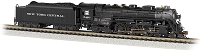 Bachmann N 4-6-4 Hudson - Sound and DCC -- New York Central 5420 (As-Delivered, black, graphite, Roman Lettering)
