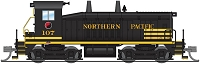 Broadway Limited N EMD SW7 - Sound and DCC - Paragon3 -- Northern Pacific 107 (black, yellow)