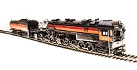 Broadway Limited HO Class AC4 4-8-8-2 Cab Forward - Sound and DCC - Paragon3 -- Southern Pacific #4101 (Fantasy Daylight; black, silver, orange, red)