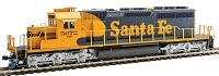 EMD SD40-2 Mid-Production - Standard DC -- Santa Fe #5072 (Warbonnet; blue, yellow)