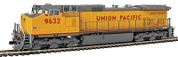 GE C44-9W w/LokSound & DCC -- Union Pacific #9632 (Armour Yellow, gray, red)