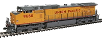 GE C44-9W - Standard DC -- Union Pacific #9660 (Armour Yellow, gray, red)