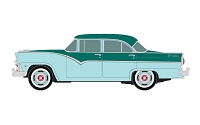 Classic Metal Works HO 1955 Ford 4-Door Sedan - Assembled -- Pinetree Green