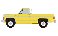 Classic Metal Works HO 1973 Chevy Cheyenne Pickup - Assembled -- Adonis Yellow