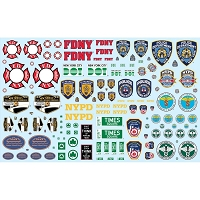 Polar Lights 1/25 NYC Auxiliary Service Decals