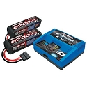 Battery/charger completer pack (includes #2971 iD charger (1), #2890X 6700mAh 14.8V 4-cell 25C LiPo battery (2))
