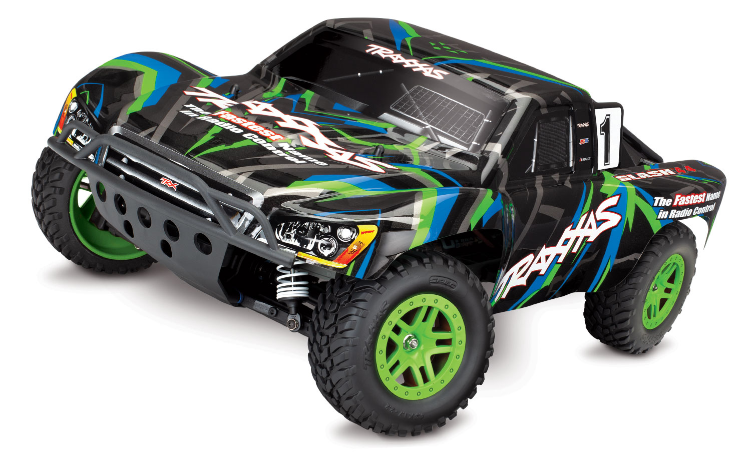 SLASH 4X4 1/10 Scale High-Performance 4X4 Short Course Truck With Brushed Titan 12T 550 and XL-5 ESC- GREEN (w/o Battery)