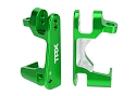 Caster blocks (c-hubs), 6061-T6 aluminum (green-anodized), left & right