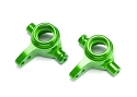 Steering blocks, 6061-T6 aluminum (green-anodized), left & right