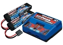 Battery/charger completer pack (includes #2972 Dual iD charger (1), #2869X 7600mAh 7.4V 2-cell 25C LiPo battery (2))