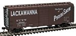 40' PS-1 Boxcar - Ready to Run -- Delaware, Lackawanna & Western #35001 (Boxcar Red, white; Phoebe Snow Slogan)