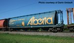 59' Cylindrical Hopper - Ready to Run -- Alberta Heritage Fund ALNX #396005 (blue, yellow; Botha, Large Alberta)
