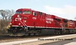 GE ES44AC Evolution Series GEVO Locomotive - Standard DC -- Canadian Pacific 9351 w/Low Headlight, Standard High-Adhesion Trucks (red, wh