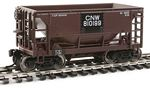 24' Minnesota Ore Car 6-Pack - Ready to Run -- Chicago & North Western(TM) Set #2 (Patched Boxcar Red)