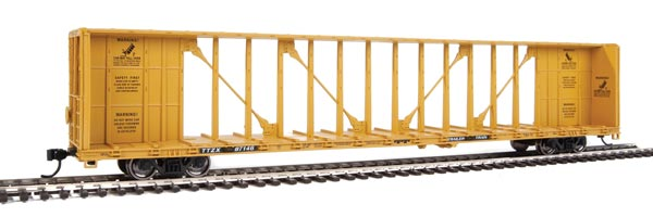 Walthers Mainline HO Scale 72' Centerbeam Flatcar with Standard Beam - Ready to Run -- Trailer-Train TTZX #87146